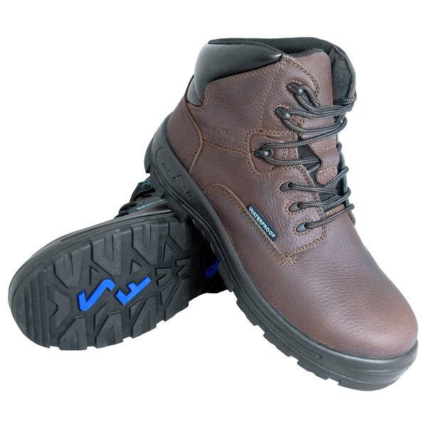 Genuine Grip 651 Poseidon Women's Size 10 Wide Width Brown Waterproof Composite Toe Non Slip Full Grain Leather Boot