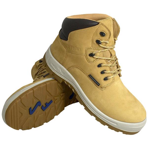 Genuine Grip 652 Poseidon Women's Size 8 Medium Width Wheat Waterproof Composite Toe Non Slip Full Grain Leather Boot