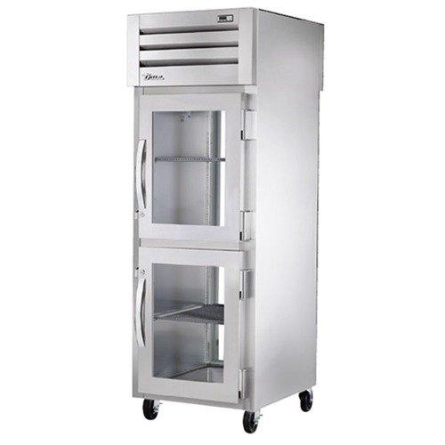 True STA1RPT-2HG-1G Specification Series Pass-Through Front Glass Half Door / Rear Glass Full Door Refrigerator