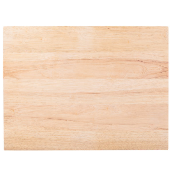 This Choice 24 X 18 1 3 4 Wood Cutting Board Is Perfect For Commercial Kitchens And Caterers Alike It Features A Reversible Design An Even Longer