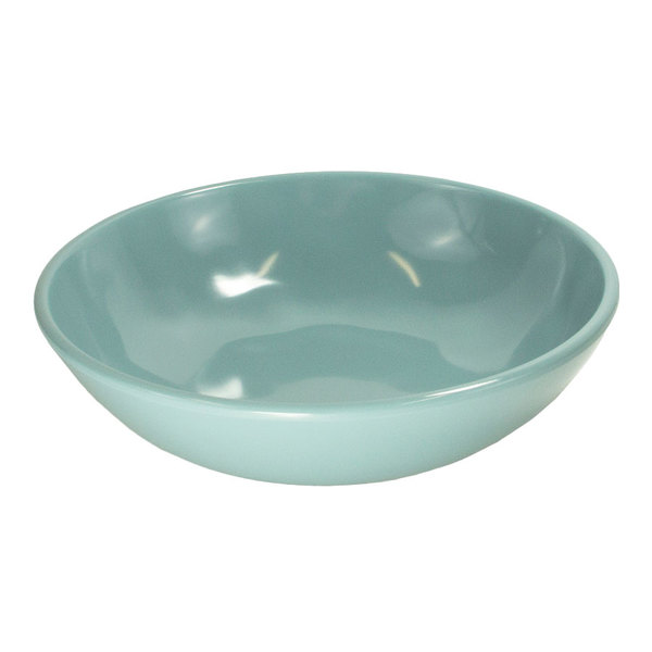 "Elite Global Solutions DB8225C-CB Cottage Vintage California 8"" Cameo Blue Melamine Bowl - 6/Case"
