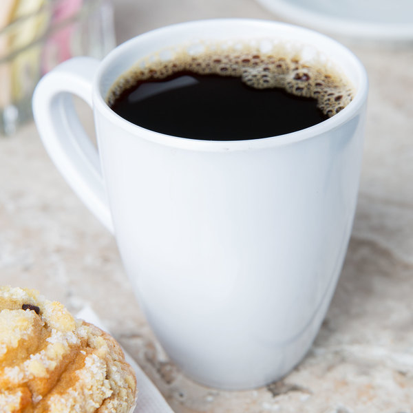 Elite Global Solutions D425 Simplicity 14 oz. White Melamine Mug - 6/Case
