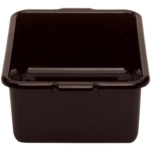"Cambro 21157CBR131 Regal Cambox 21"" x 15"" x 7"" Dark Brown Plastic Bus Tub Main Image 1"