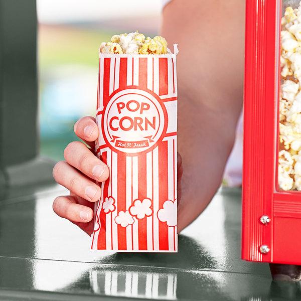 """Carnival King 3"""" x 1 1/2"""" x 7"""" .6 oz. Popcorn Bag - 1000/Case Main Image 2"""