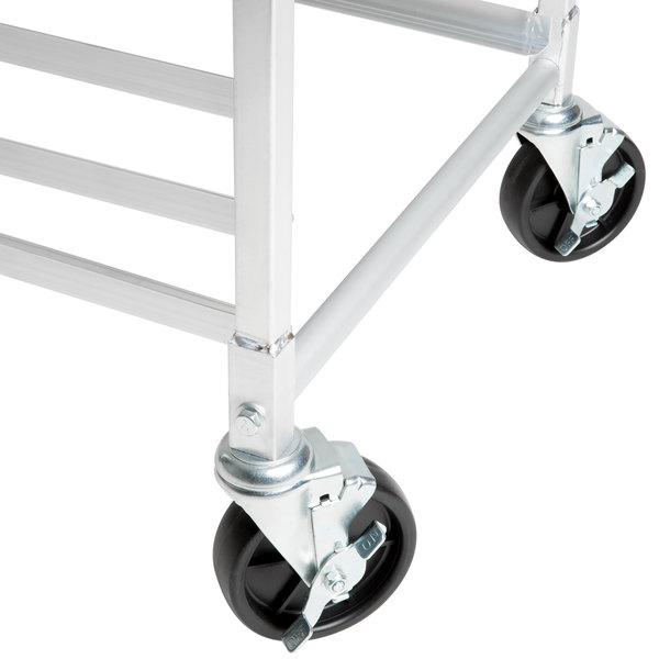 "Regency 5"" Polypropylene Swivel Stem Caster With Brake for Sheet Pan Racks Main Image 6"