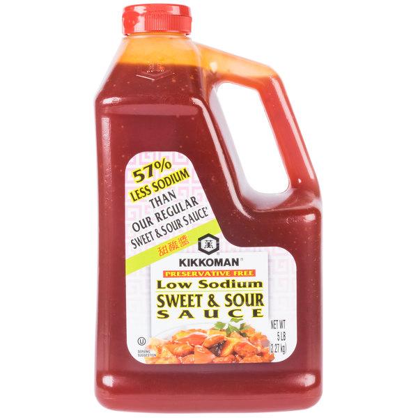 Kikkoman 5 lb. Less Sodium Preservative Free Sweet and Sour Sauce - 6/Case