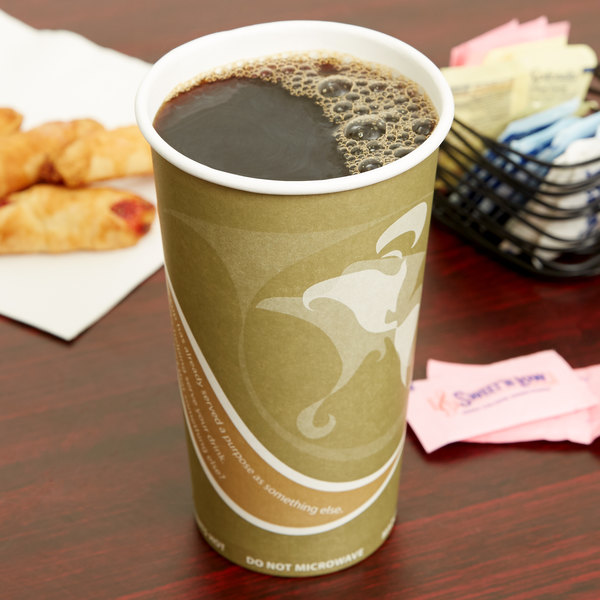 Eco Products EP-BRHC20-EW Evolution World PCF 20 oz. Paper Hot Cup - 1000/Case Main Image 2