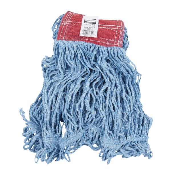 Rubbermaid Fgd25306bl00 Blue Large Super Stitch Blend Mop Head With 5 Headband