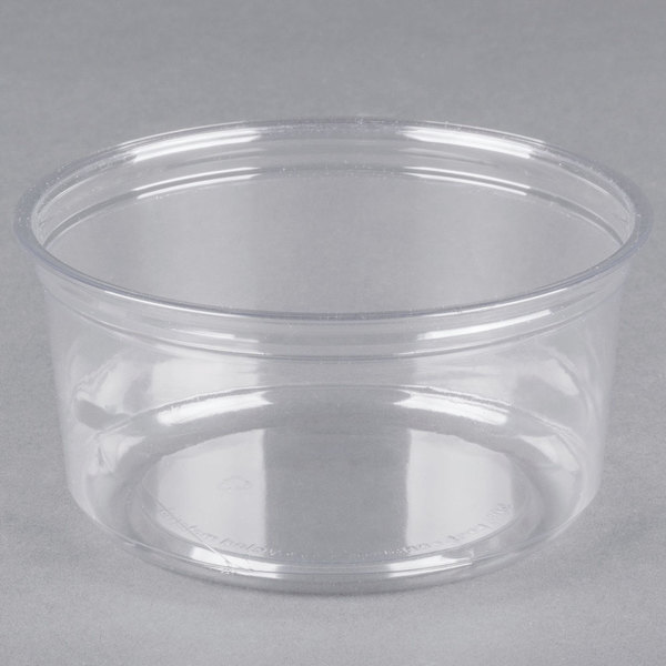 Fabri-Kal Alur RD12 12 oz. Recycled Clear PET Plastic Round Deli Container - 50/Pack