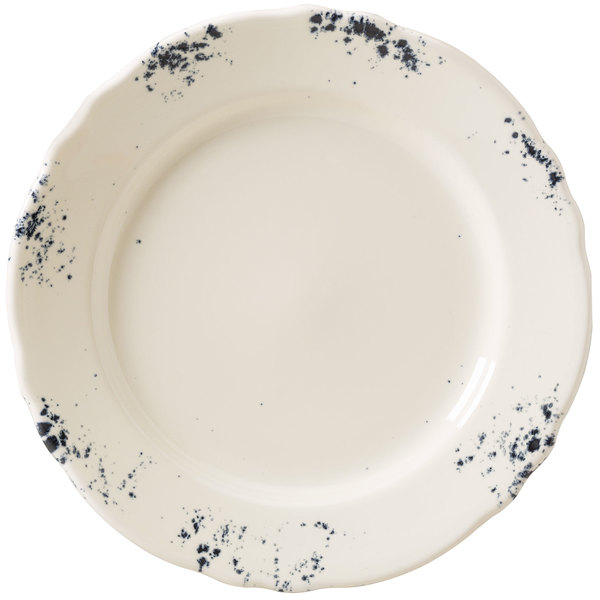 "Homer Laughlin 54641300 Cottage Bleu 9 3/4"" Scalloped Edge Round Plate - 24/Case"