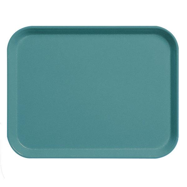 """Cambro 3253CL674 Camlite 13"""" x 21"""" Steel Blue Tray - 12/Case"""