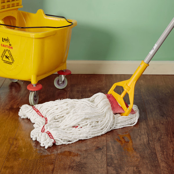 """Rubbermaid FGA25306WH00 White Large Web Foot Shrinkless Blend Mop Head with 5"""" Headband"""
