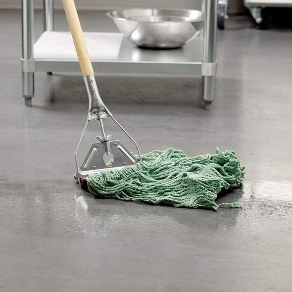 Rubbermaid Fgd25306gr00 Green Large Super Stitch Blend Mop Head With 5 Headband
