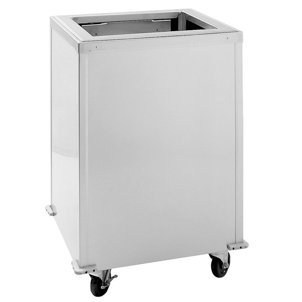 "Delfield T-1418H Heated Enclosed Mobile Tray Dispenser for 14"" x 18"" Trays"