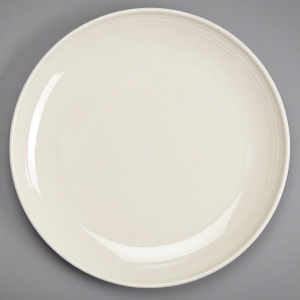 "Homer Laughlin 13069200 FlipSide 6 1/2"" Ivory (American White) Round Plate - 36/Case"