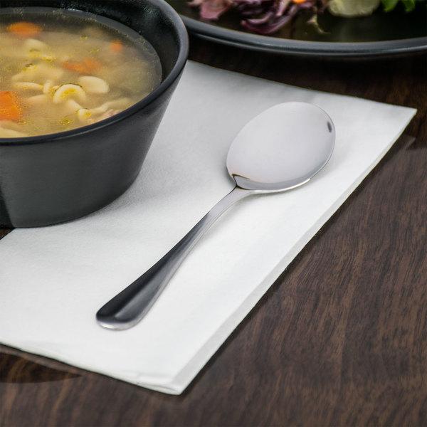 Queen Anne Flatware Stainless Steel Bouillon Spoon - 12/Case