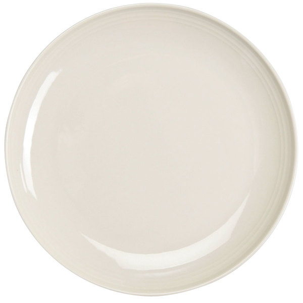 "Homer Laughlin 13119200 FlipSide 11 5/8"" Ivory (American White) Round Plate - 12/Case"