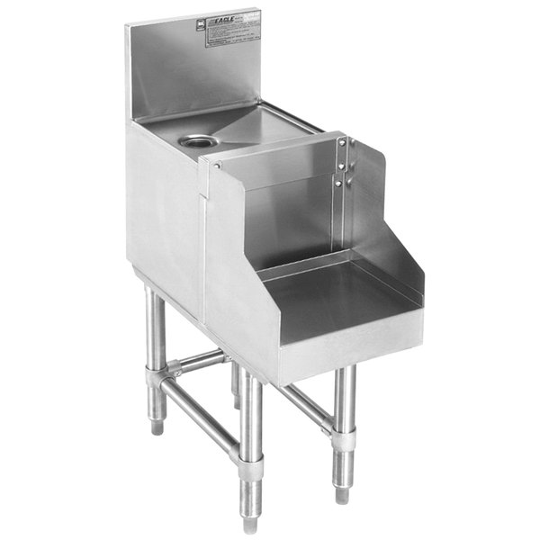 """Eagle Group BDBS18-19 Spec-Bar Stainless Steel Underbar Blender Station with Drainboard - 18"""" x 24"""" Main Image 1"""