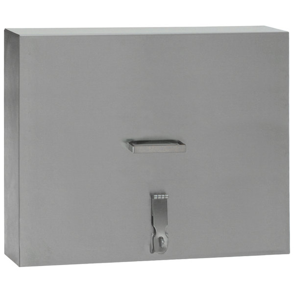 Eagle Group BRM-CTLC-24 Spec-Bar Stainless Steel Countertop Mini Bottle Rack Locking Cover Main Image 1