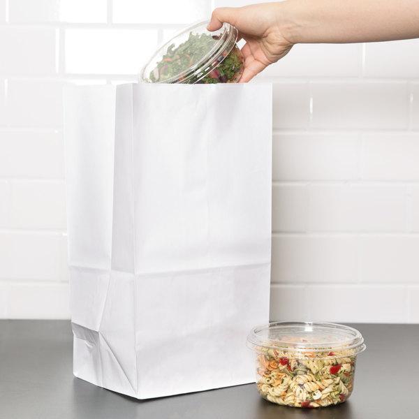 Duro 25 lb. Tall White Paper Bag - 500/Bundle