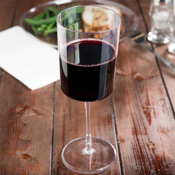 Fineline Renaissance 2811 11 oz. Clear Plastic 1-Piece Wine Glass - 72/Case