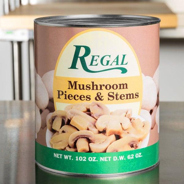 Regal Foods Mushroom Pieces & Stems - #10 Can
