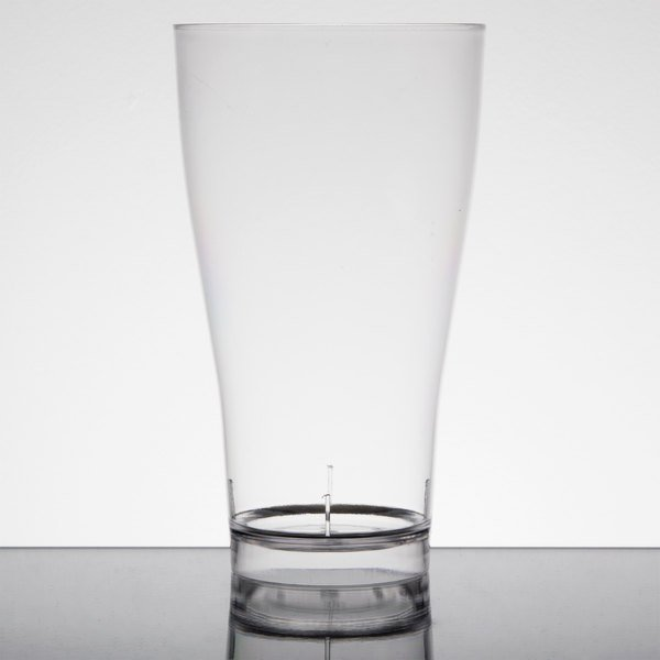Fineline Quenchers 4514 14 oz. Clear Plastic Beer / Pilsner Glass - 60/Case