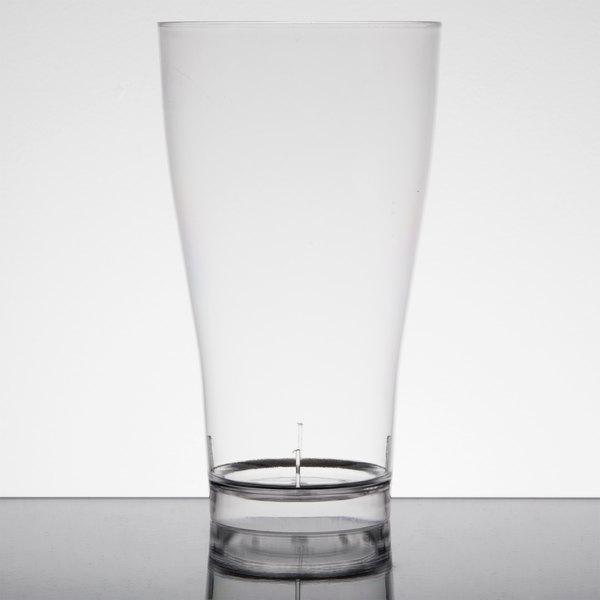 Fineline Quenchers 4514-CL 14 oz. Clear Plastic Beer / Pilsner Glass - 60/Case