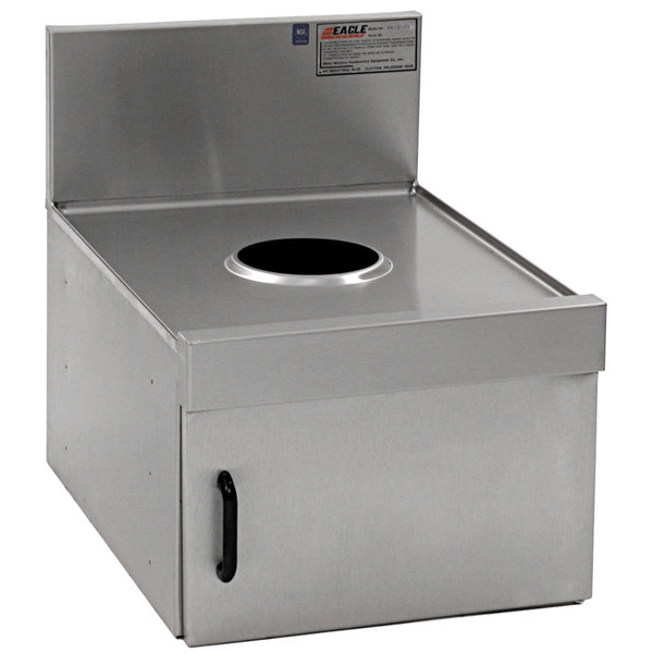 """Eagle Group DW18-19 Spec-Bar 18"""" x 19"""" Stainless Steel Dry Waste Unit"""