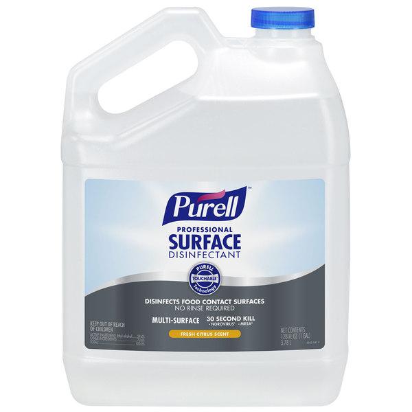 Purell 4342-04 1 Gallon / 128 oz. Fresh Citrus Professional Surface Disinfectant - 4/Case
