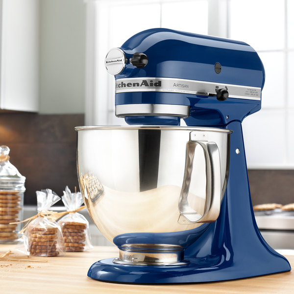 kitchenaid ksm150psbw blue willow artisan series 5 qt countertop mixer