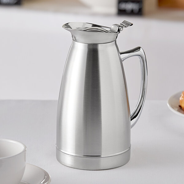 Choice 27 oz. Stainless Steel Insulated Thermal Coffee Server Main Image 3