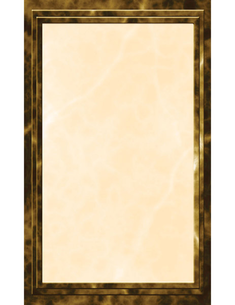 "8 1/2"" x 11"" Brown Menu Paper - Marble Border - 100/Pack"
