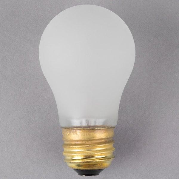 Satco S4881 40 Watt Frosted Shatterproof Finish Incandescent Rough Service Light Bulb - 130V (A15)