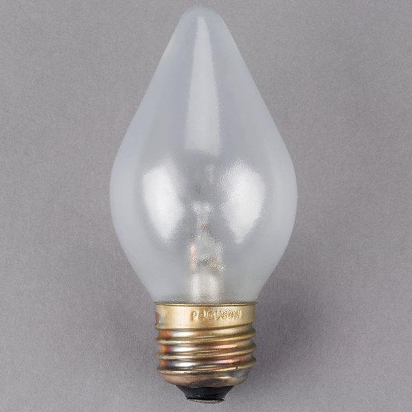 All Points 38-1554 Equivalent 60 Watt Clear Shatterproof Finish Decorative Incandescent Rough Service Light Bulb - 240V (C15)