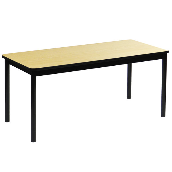 """Correll LR2460-16 24"""" x 60"""" Fusion Maple Library Table - 29"""" Height Main Image 1"""