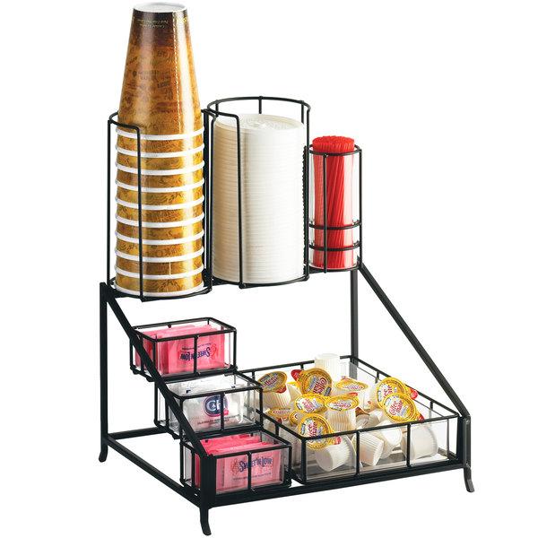 "Cal-Mil 1453 Iron Coffee Condiment Display - 12"" x 10 1/2"" x 14 1/2"""