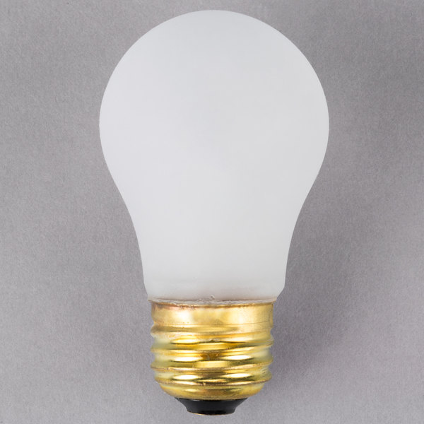 Satco S4880 25 Watt Frosted Shatterproof Finish Incandescent Rough Service Light Bulb - 130V (A15) Main Image 1