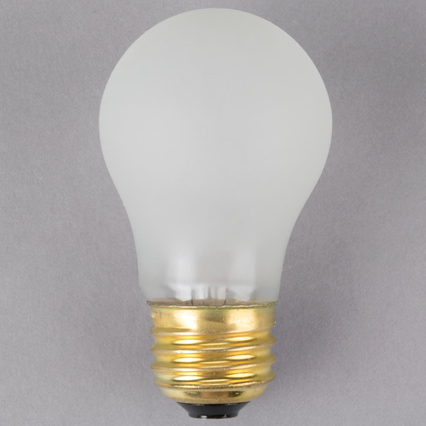 Satco S4882 60 Watt Frosted Shatterproof Finish Incandescent Rough Service Light Bulb 130v A15