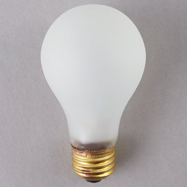 Satco S3931 75 Watt Frosted Shatterproof Finish Incandescent Rough Service Light Bulb -130V (A19)