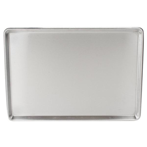 """Full Size 20 Gauge 18"""" x 26"""" Sanitary Open Bead Rim Stainless Steel Bun Pan / Sheet Pan"""