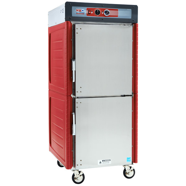 Metro C549-ASDS-L Insulated Stainless Steel Full Height Hot Holding Cabinet with Solid Dutch Doors and Lip Load Slides - 120V, 1360W Main Image 1