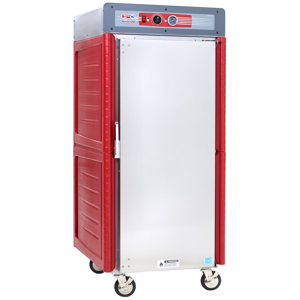Metro C549-ASFS-U Insulated Stainless Steel Full Height Hot Holding Cabinet with Solid Door and Universal Slides - 120V, 1360W Main Image 1