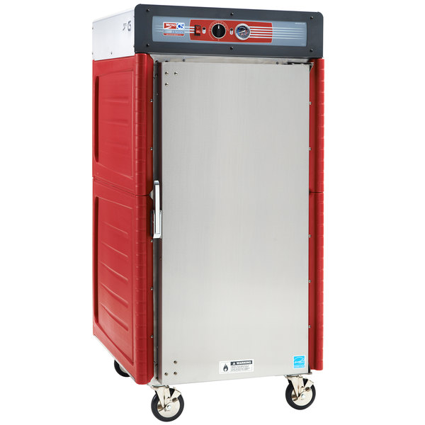 Metro C548-ASFS-L Insulated Stainless Steel 5/6 Height Hot Holding Cabinet with Solid Door and Lip Load Slides - 120V, 1360W