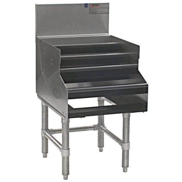 """Eagle Group LDDR12-19 Spec-Bar Five-Tiered 12"""" x 29"""" Liquor Display - Double Speed Rail Alignment Main Image 1"""