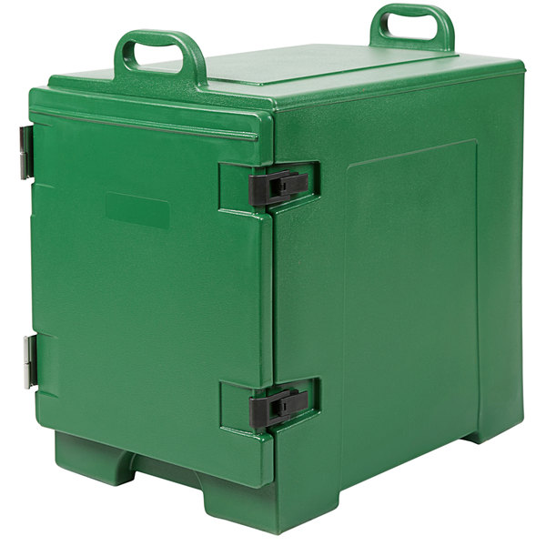 Green Front Loading Insulated Food Pan Carrier - Holds 5 Pans
