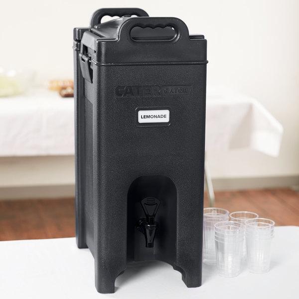 Best CaterGator 5 Gallon Black Insulated Beverage Dispenser LW14