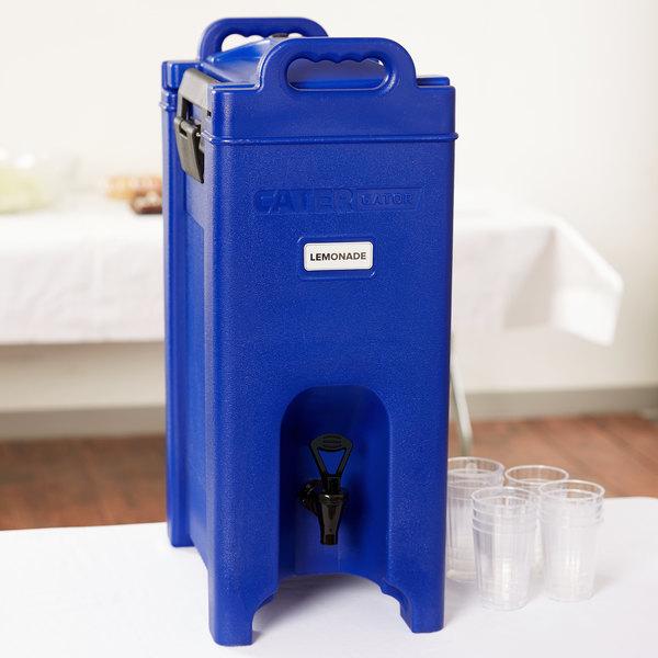 CaterGator 5 Gallon Blue Insulated Beverage Dispenser