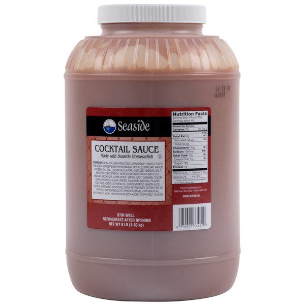 Tulkoff 133082S 8 lb. Seaside Cocktail Sauce - 4/Case