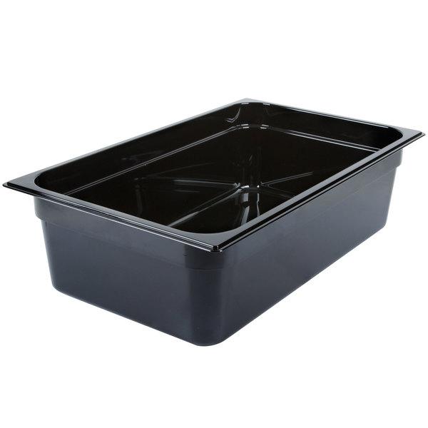 "Carlisle 10402B03 StorPlus Full Size Black High Heat Plastic Food Pan - 6"" Deep Main Image 1"